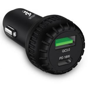 Smart iConnect 18W Premium Fast Car Charger CC08
