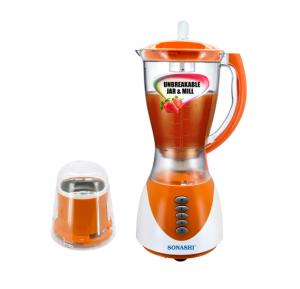Sonashi Blender 2 In 1 Unbreakable Jar and Mill, 3 Speed, 1.5Ltr, SB-153