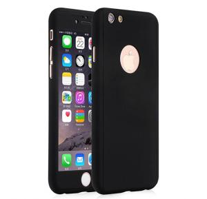 Apple compatible 360 degree protective Case for I phone 7 Black