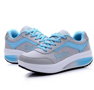 Summer Breathable Women Casual Sneakers Blue, 39