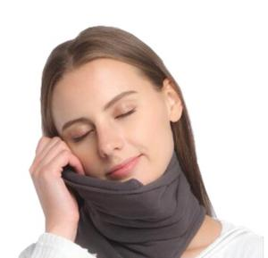 Hierversion Neck Support Travel Pillow Grey