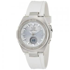Casio Baby-g Analog Digital Silver Dial Womens Watch, MSG-S200D-7ADR