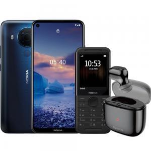 2 In 1 Nokia 5.4 Dual SIM Polar Night 4GB RAM 128GB Storage 4G LTE, Baseus Single Earbuds And