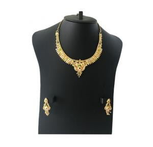 Harsha Arts 22K Gold Plated Necklace Set, HR 1220
