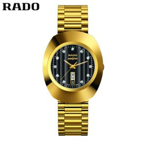 Rado R12304313 The Original Black Dail Men Watch, Gold