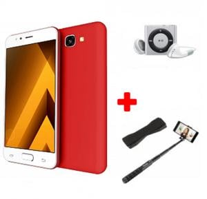 Crescent Air 4 Smartphone, Android 6.0, 5.5 Inch HD Display, 4GB RAM, 32GB Storage, Dual Camera, Wifi- Red And Get Free Mp3 Player, Selfie Stick, Mobile Grip