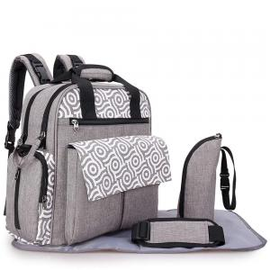 Alameda AL_010_GY Convertible Diaper Bag Backpack with Nappy Mat and Bottle Holder Grey