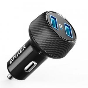 Anker A2212H11 24W Dual USB Car Charger, Black