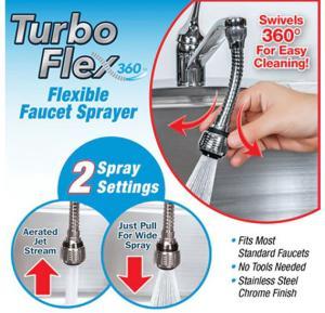 T&F Turbo flex flexible faucet Sprayer