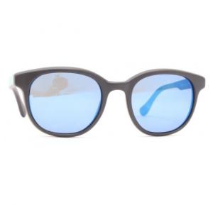 Vogue Oval Grey Frame & Sky Blue Mirrored Sunglasses For Unisex - VO2730S-W44/553N