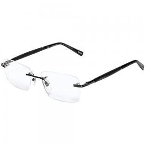 Chopard VCHC37 Gunmetal Rectangle Unisex Eyeglasses Grey
