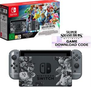 Nintendo Switch Grey Super Smash Bros Ultimate Edition - Switch super smash bros ultimate edition