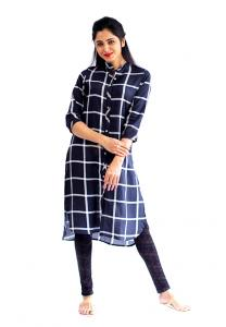 Ruky Fareen Women Long Top Flair Kurti Full Sleeve, RF 232 - XL