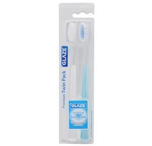 Glaze Tooth Brush Premium Twin Pack Soft Medium