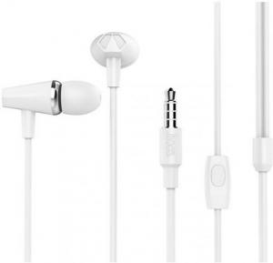 Hoco honor music universal earphones with microphone, White, M34
