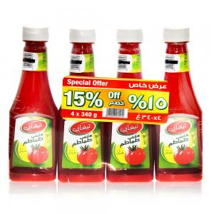 4 Piece Tomato Ketchup Special Pack, 4 x 340gm