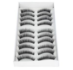 10 Pairs Black Natural Thick Fake False Eyelashes Makeup Long Eyelashes 2 Styles