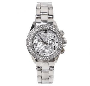 Catwalk Fashionable Cz Stone Covered Analog Stainless Steel Watch For Women CWW - 256