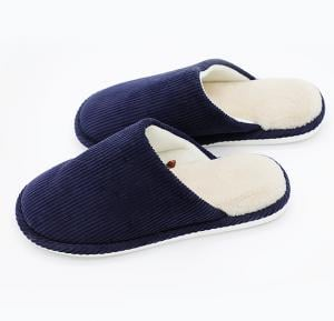 Faux Fur Winter Slipper Blue Color