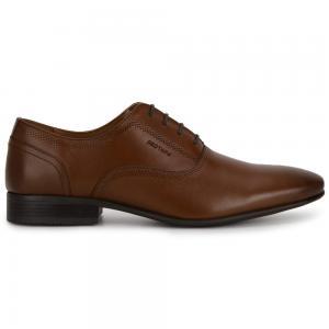 Red Tape Leather Formal Shoes for Men, RTE2348, Teak