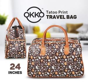 Okko Tatoo Print Travel Bag Assorted Color, OK23951