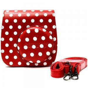 Gosmart Camera Bag For Fujifilm Instax Mini 8, 8+, 9, Red Dot