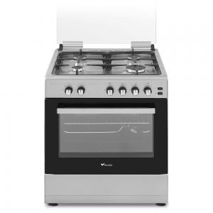 Veneto 60 X 60 cm C3X66G4VCS.VN 4 Gas Burner Gas Cooker with Stainless Steel Hob Silver