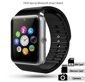 Y600 Sporty Bluetooth Smart Watch Phone with Camera , memory card and sim card slot