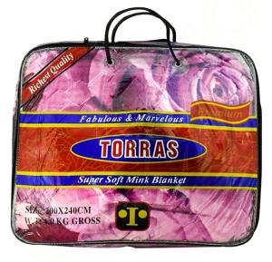 TORRAS DOUBLE BLANKET 200X240CM ASST ASSORTED COLOR