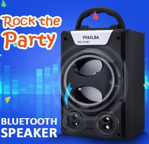 Fashionable Portable Wireless Blutooth Speaker With Micro SD, Flash drive And AUX Support, XB-019BT