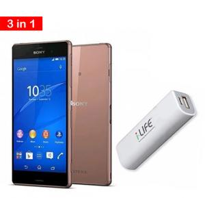2 in 1 offer Sony Xperia Z3 Smartphone Gold With i-LIFE 2600mAh Power Bank