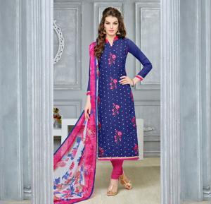 Dairy Milk 119 Chanderi Cotton Naznin Printed Dress Material