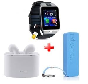3 IN 1 Bundle Offer MidSun M9 Smart Watch,Twin Bluetooth Headset and Power Bank