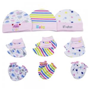Night Angel Baby Benie Hat Mittens and Bootie Set for Girls BC-203-G