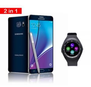 2 in 1 Offer Samsung Galaxy Note 5 Blue With Zooni Y1 Bluetooth Smart Watches