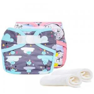 Little Story LS_RDISS2_UC New Born Reusable Diapers and Inserts- Set of 2 Unicorn Cloud