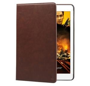 Promate Wallex Air 2 Premium Leather Wallet Case with Card Holder for iPad Air 2, Brown