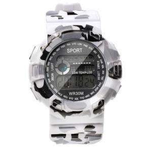 Digital Analogue Sport watch WR30M Grey,Alg004