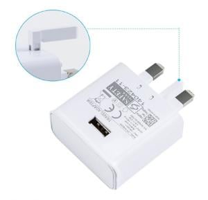 Universal Fast Charging UK Plug Adapter with USB Cable