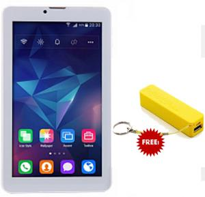 BSNL A34, Tablet 7 inch, Android 4.4, 16GB, Dual Core, 4G LTE, Dual Camera, Silver, And Get free power bank