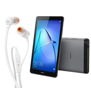 2 IN 1 Bundel Offer, Huawei Tablet T3 7 Kids With Jbl In Ear Stereo Wired Headphone T110a - White