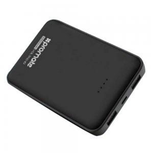 Promate BOLT-10 Black 10000 Dual USB Li-po Powerbank With USB C and Micro USB Input
