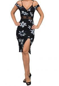 WAL G Italy Floral Casual Dress Black - WG 7210 - XXL