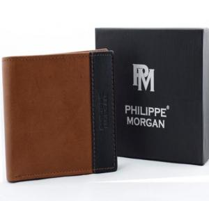 Philippe Morgan premium Leather Wallet PM029, Brown