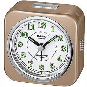 Casio TQ-158S-9DF Analog Table Clock, Brown