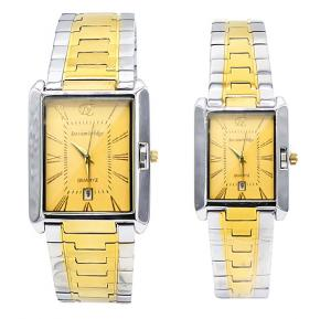 Decambridge Gold dial Couple Watch Set 8101GL-Gold