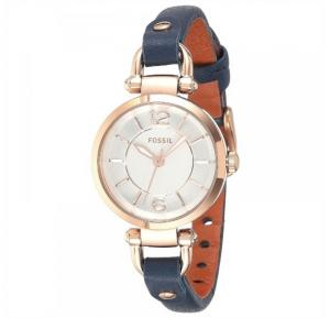 Fossil Georgia White Dial Leather Band Watch For Women - ES4026