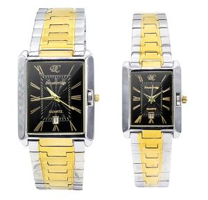 Decambridge Black dial Couple Watch Set 8101GL-Black