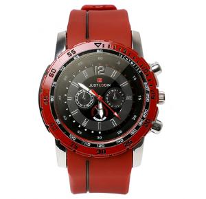 Just Login Red Strap Wrist watch, Royalhand