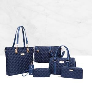 6 Piece Bags Hot Package New Arrival Women Choice, Blue